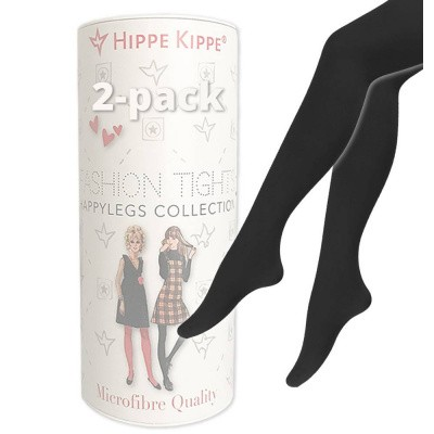 Foto van Hippe Kippe Fashion Tights 60 Denier 2-pack Black