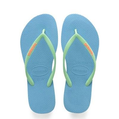 Foto van Havaianas Slim Logo Blue Splash
