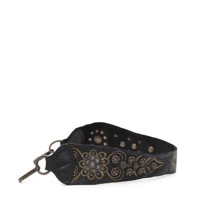 Foto van Campomaggi Shoulder strap with studded decoration Black