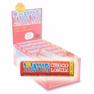 Foto van Tony's Chocolonely Melk Chocolade 50 gram