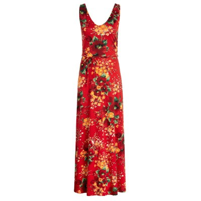 Foto van King Louie Anna Maxi Dress Splendid Fiery Red