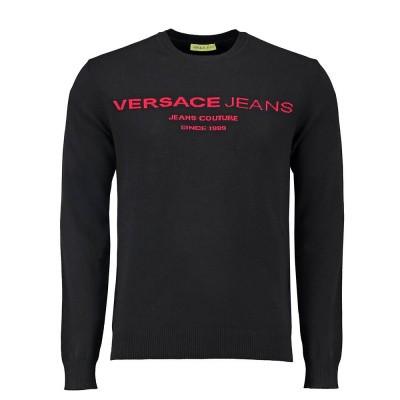 Foto van Versace Jeans Knitted Sweater Orizontal Intarsio Logo