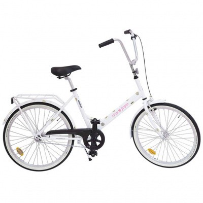 Foto van Rice JOPO Adult Bicycle White With Gold Dots