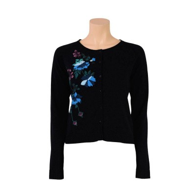 King Louie Cardi Long Mignonne Black