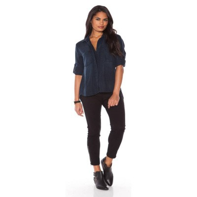 Foto van Bella Dahl Blouse Split Back Button Down Blackdigo