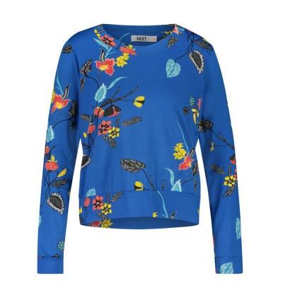IEZ! Shirt Jersey Print Blue