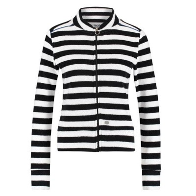 IEZ! Jacket Terry Stripe Black White
