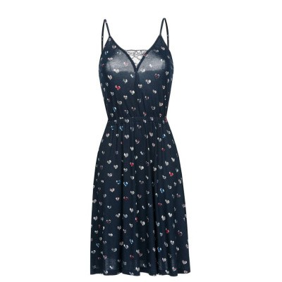Vive Maria French Girl Pinafore Dress Allover Navy