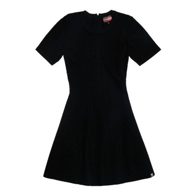 Foto van Superdry Lexi Fit And Flare Knit Dress Black