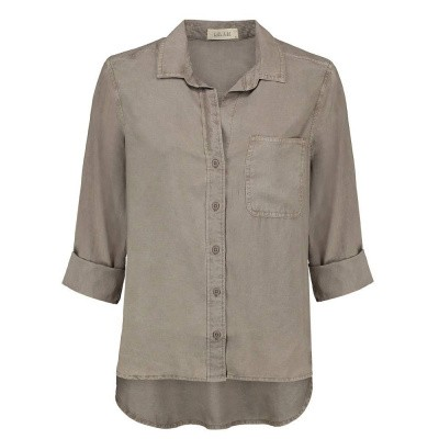 Foto van Bella Dahl Shirt Tail Button Down Cement