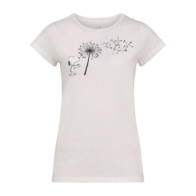 Foto van Vintage 55 T-Shirt Snoopy Flower Star White