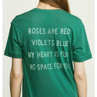 Zoe Karssen No Space For You Loose Fit T-Shirt Antique Green