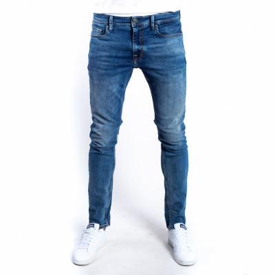 Foto van Amsterdenim Jan Slim Fit Jeans Oud Blauw