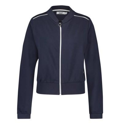 IEZ! Jacket Bomber French Knit Dark Blue
