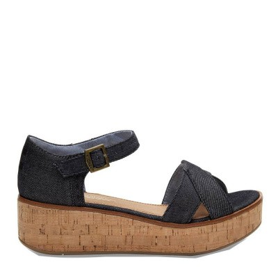 Foto van Toms Harper Wedge Black Denim
