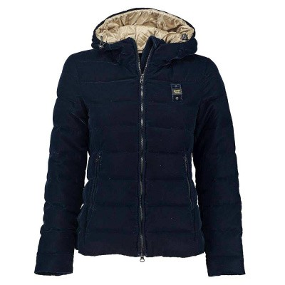 Foto van Blauer Down Jacket With Hood in Velvet Blu