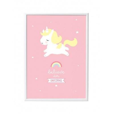 Foto van A Little Lovely Company Poster Eenhoorn