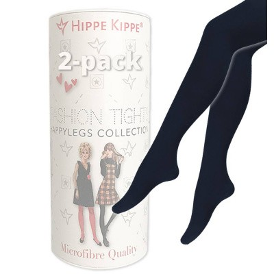 Foto van Hippe Kippe Fashion Tights 60 Denier 2-pack Marine Blue