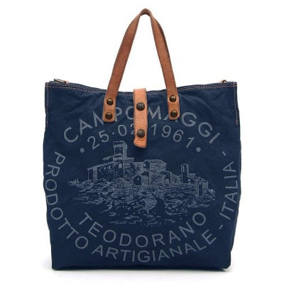 Foto van Campomaggi Shopper Tess Blue Natural