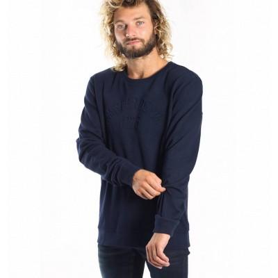 Foto van Amsterdenim Gijsbrecht Sweatshirt Navy Blue