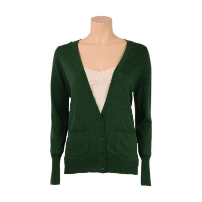 King Louie Cardi Long Cocoon Forest Green