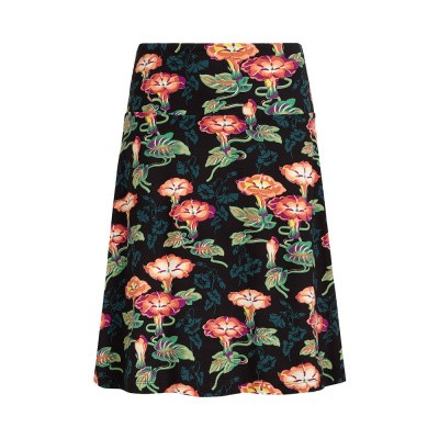 King Louie Border Skirt Maroon Black
