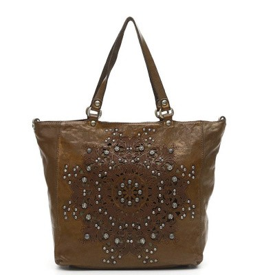 Foto van Campomaggi Shopping bag in green leather