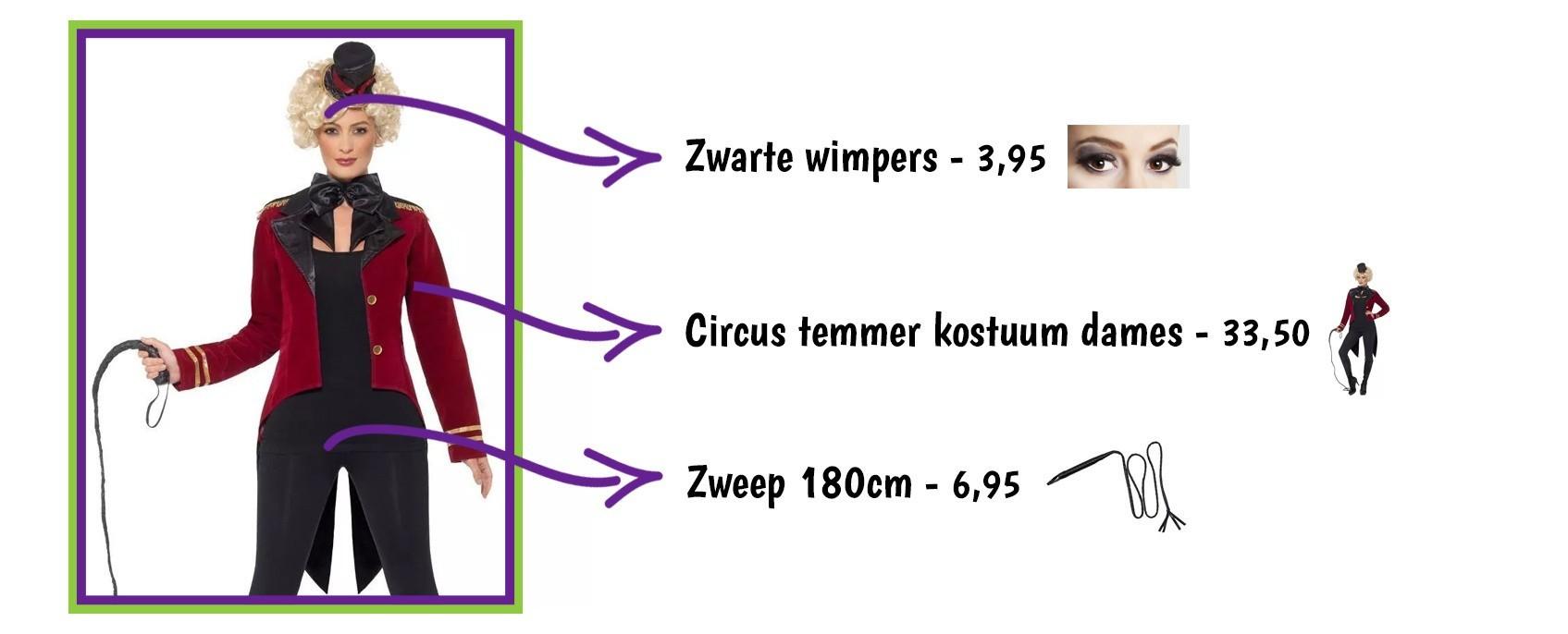 Circus temmer kostuum dames