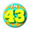 Afbeelding van Button 43 jaar