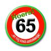 Afbeelding van Button Verkeersbord 65 Jaar