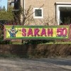 Afbeelding van Straatbanier 40x180cm Sarah Stripes