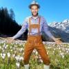 Afbeelding van Tiroler overhemd blauw-wit