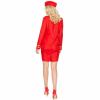 Afbeelding van Stewardess kostuum - Rood