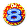 Afbeelding van Button 8 jaar