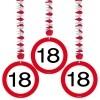Afbeelding van Hangdecoratie Verkeersbord 18/3stk