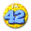 Afbeelding van Button 42 jaar