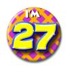 Afbeelding van Button 27 jaar