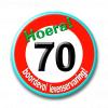 Afbeelding van Button 70 jaar verkeersbord