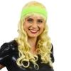 Afbeelding van Zweetband hoofd neon groen
