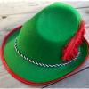 Afbeelding van Tiroler hoed - groen met rode veer