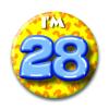 Afbeelding van Button 28 jaar