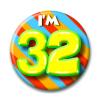 Afbeelding van Button 32 jaar
