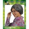 Afbeelding van Oma met knot luxe gemeleerd grijs