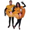 Afbeelding van Emoticon kostuum knipoog en tong