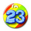 Afbeelding van Button 23 jaar