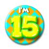Afbeelding van Button 15 jaar