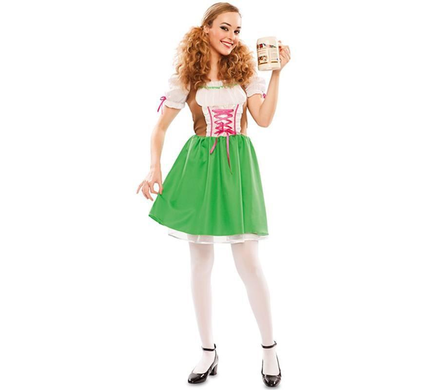 5aeda476ba77d3 Afbeelding van Tiroler jurkje groen