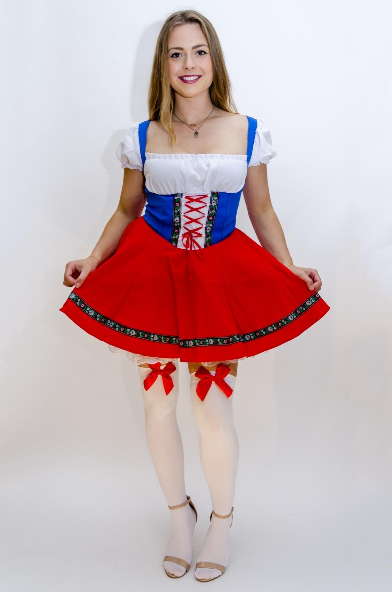 Dirndl jurk strik