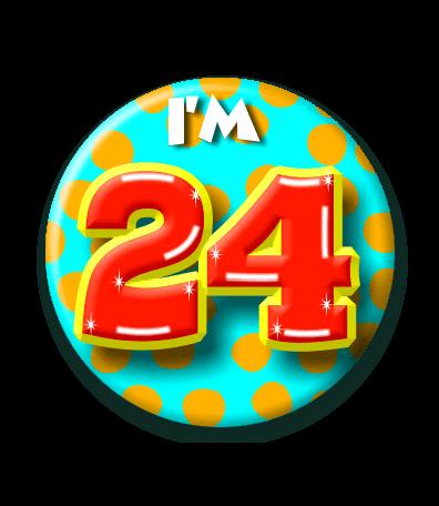 Button 24 Jaar Confettifeest Nl
