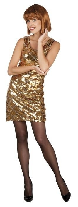 50076df54c9 Afbeelding van Pailletten jurkje goud